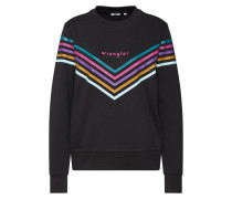 Sweater 'Rainbow' mischfarben / schwarz