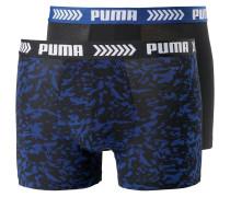 Boxershorts blau / schwarz