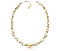 Kette 'White Pearl Jubn78042Jw' gold