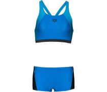 Bikini 'Rem' himmelblau / schwarz