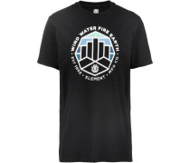 T-Shirt ' Passage' schwarz