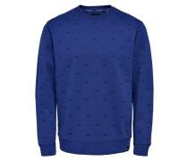 Sweatshirt Print blau