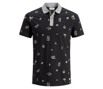 Poloshirt hellgrau / schwarz