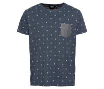 T-Shirt 'Reinaldo' dunkelblau / weiß