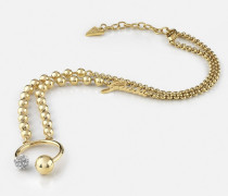 Halskette 'Pompom' gold / silber
