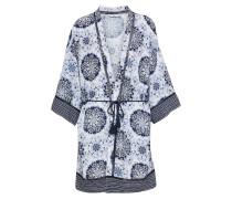 Kimono creme / dunkelblau / hellgrau