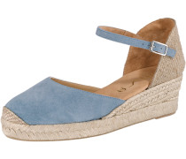 Sandaletten beige / hellblau