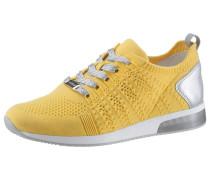 Sneaker 'lissabon' silber / gelb / weiß