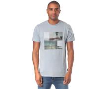 T-Shirt 'The Road' rauchblau