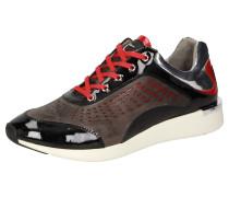 Sneaker 'Malosika' braun / rot / schwarz