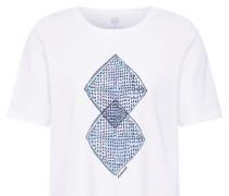 T-Shirt 'Abstract' mischfarben / weiß