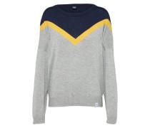 Pullover 'Vicky' nachtblau / gelb / grau