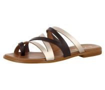 Sandale 'olimpia' braun / gold