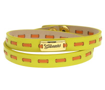 Wickelarmband Leder Gelb/Orange Ubb21308
