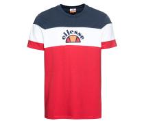 T-Shirt 'gubbio' blau / rot / weiß