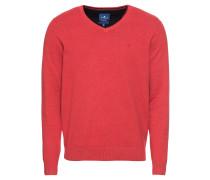 Pullover 'basic v-neck sweater' rot