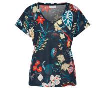 T-Shirt 'franka' creme / nachtblau / rot