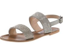 Sandalen 'alea' braun / silber