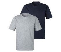 Shirts navy / grau