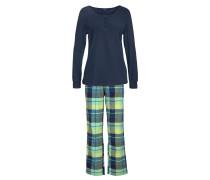 Pyjama blau / gelb / hellgrün