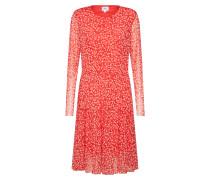 Kleid 'Leaf' rot / weiß