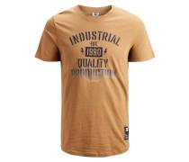 T-Shirt bronze / schwarz