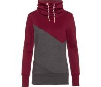 Sweatshirt 'Musiclove' dunkelgrau / bordeaux