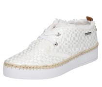 Sneaker mit Flecht-Design weiß