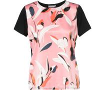 Blusenshirt pink / schwarz