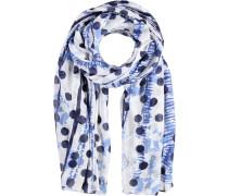 Baumwoll-Viskose Schal blau