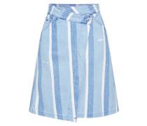 Rock '5622 Wrap Skirt' blue denim