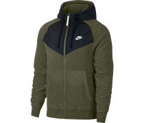 Sweatjacke 'nsw FZ Core' oliv