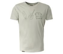 T-Shirt 'Mano' mint / apfel