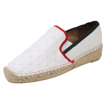 Espadrilles 'corporate' weiß