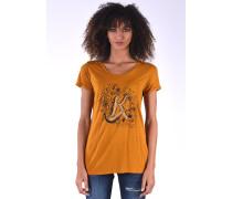 T-Shirt Gravy Raisin mit glitzerndem Frontprint