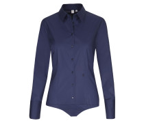 City-Bluse 'Schwarze Rose' blau