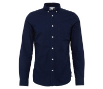 Unifarbenes Hemd 'Button-down rinsed'