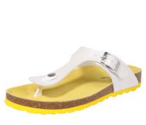 Slipper 'Skadi' gelb / weiß