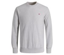 Alltags Sweatshirt graumeliert