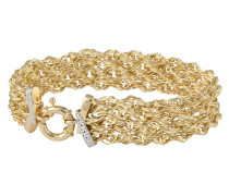 Armband in Fantasiekettengliederung gold