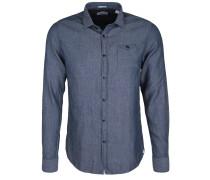 Freizeithemd 'denim Stripe' blau