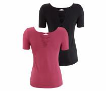 T-Shirts eosin / schwarz