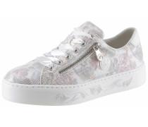 Sneaker silbergrau / rosé / weiß