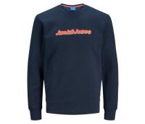 Vorderlogo Sweatshirt blau / rot