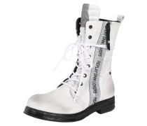 Stiefel 'renegade' schwarz / weiß