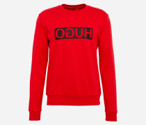 Sweatshirt mit Icon-Print 'Dicago' rot