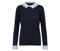 Pullover navy / hellblau / weiß