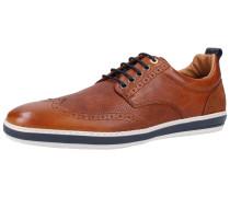 Sneaker navy / cognac / weiß