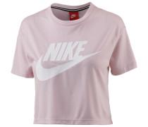 Croptop 'Essential' rosa / weiß
