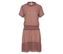 Kleid 'James print dress' rot / schwarz